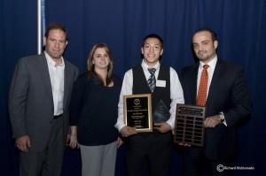 Jon Tush (from left), Lorelei Tavakolian, First Award Recipient William Vera, and Hooman Tavakolian.